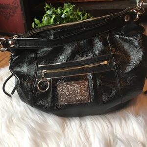 Coach poppy black hobo purse